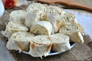 Лаваш с сыром и укропом - фото шаг 7