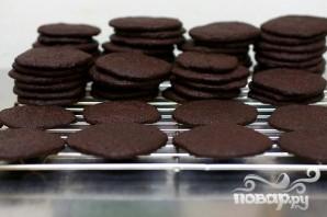 Шоколадное печенье со сливочным кремом - фото шаг 2