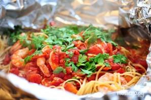 Креветки со спагетти - фото шаг 12