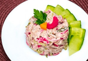 Мясной салат на Новый год - фото шаг 3