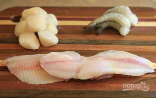 Севиче из рыбы, креветки и гребешков - фото шаг 1