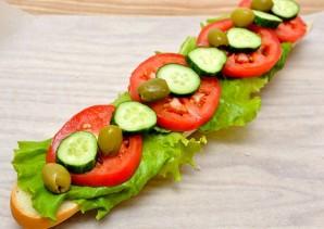 Бутерброды с багетом - фото шаг 4