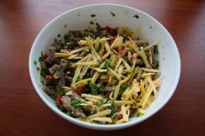 Салат с говядиной и сыром - фото шаг 5
