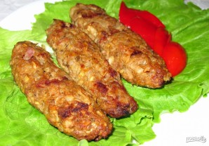 Люля-кебаб из баранины в духовке - фото шаг 8
