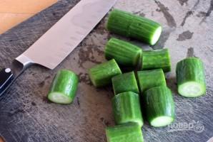 Огурцы в соевом соусе - фото шаг 2