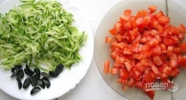 "Салат ""Долька арбуза"" - фото шаг 3"