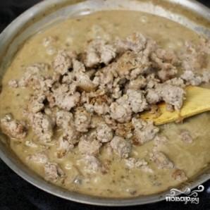 Картофельная запеканка с фаршем и грибами - фото шаг 8