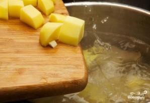 Сырный суп с колбасой - фото шаг 5