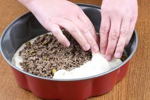 Мясной пирог из дрожжевого теста - фото шаг 5