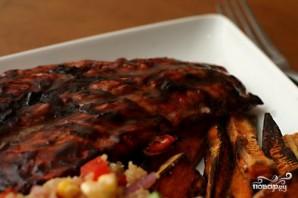 Жареный лосось с черничным соусом - фото шаг 4