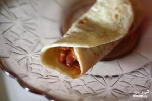 Кесадилья с фасолью и сыром - фото шаг 5