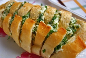 Багет с сыром и чесноком - фото шаг 7