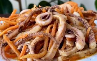 Салат из кальмаров с морковью по-корейски - фото шаг 6