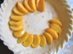 Пирог с персиками под сметаной - фото шаг 3