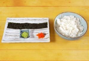 Суши с икрой - фото шаг 1