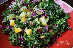 Салат с виноградом и фисташками - фото шаг 10
