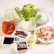 Рис с овощами, укропом и креветками - фото шаг 1