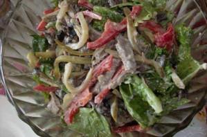 Салат из говядины и грибов - фото шаг 4