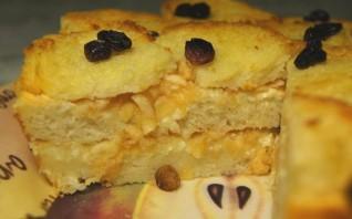 Шарлотка из сухарей с яблоками - фото шаг 13