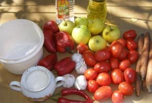 Аджика с яблоками и помидорами - фото шаг 1