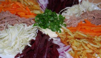 Татарский салат с говядиной - фото шаг 8