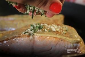Лосось с хрустящей корочкой на сковороде - фото шаг 6