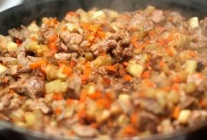 Мясо в лаваше - фото шаг 3