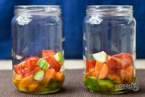 """Овощной салат """"Витамины в баночке"""" - фото шаг 2"""