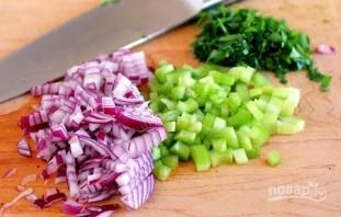 Мясные кармашки с луком и зеленью - фото шаг 1