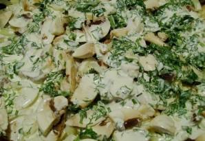 Отбивная с грибами и сыром - фото шаг 7
