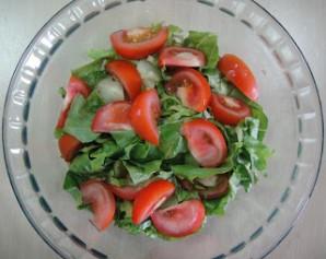 Американский салат со стейком - фото шаг 4