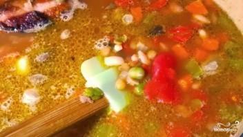 Гороховый суп из свиной рульки - фото шаг 7