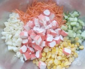Салат с крабовыми палочками и морковью по-корейски - фото шаг 6
