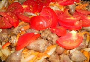 Куриные сердечки с овощами - фото шаг 3