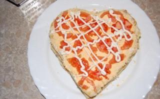 Закусочный торт из слоеного теста - фото шаг 9