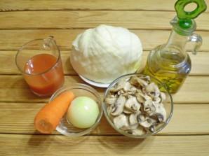 Пирожки с капустой и грибами жареные - фото шаг 1