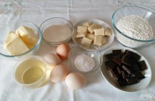 Винный кекс из двух видов шоколада - фото шаг 1