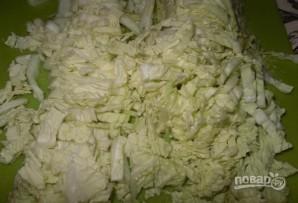 Салат из крабовых палочек с пекинской капустой - фото шаг 1