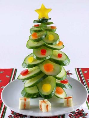 Легкая новогодняя закуска из овощей - фото шаг 6