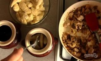Полтавские галушки в горшочках с мясом и грибами - фото шаг 8