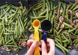 Зеленая фасоль с грибами - фото шаг 4