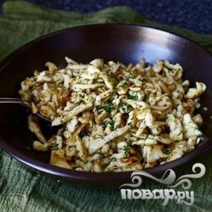 Яичная лапша с луком и зеленью - фото шаг 5