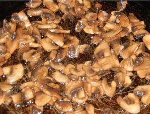 Салат с печенью и грибами - фото шаг 4