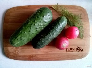 """Овощная нарезка """"Хвост петуха"""" - фото шаг 2"""