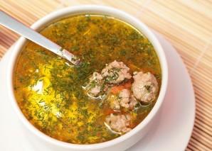 Суп с фрикадельками и клецками - фото шаг 6