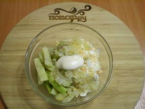 Салат из зеленой фасоли с яйцами - фото шаг 7