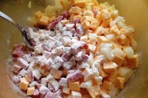 Быстрый пирог с ветчиной и сыром - фото шаг 3
