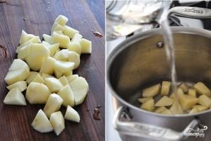 Грибной крем-суп из шампиньонов со сливками - фото шаг 3