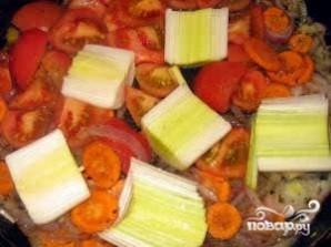 Рис с луком-пореем - фото шаг 3