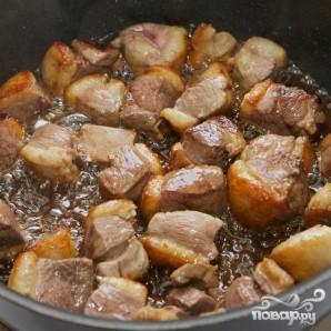Тушенная утка с баклажанами и картофелем - фото шаг 5